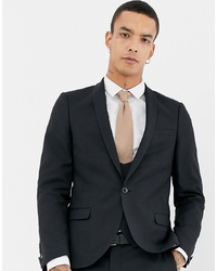 Blazer de lana negro de Twisted Tailor