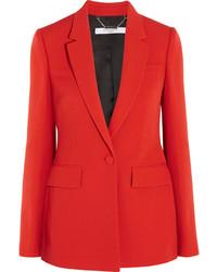 Blazer de lana rojo de Givenchy
