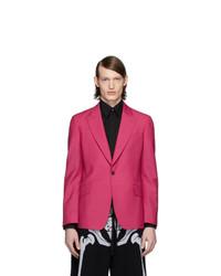 Blazer de lana rosa de Alexander McQueen