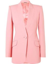 Blazer de lana rosado de Alexander McQueen