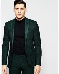 Blazer de lana verde oscuro de Asos