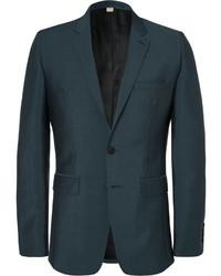 Blazer de lana verde oscuro de Burberry