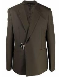 Blazer de lana verde oscuro de Givenchy