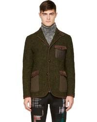 Blazer de lana verde oscuro de Junya Watanabe