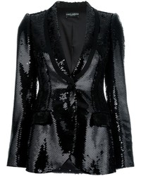 Blazer de lentejuelas negro de Dolce & Gabbana