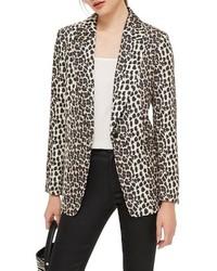 Blazer de leopardo en beige