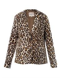 Blazer de leopardo marrón claro
