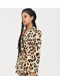 Blazer de leopardo marrón claro de ASOS DESIGN