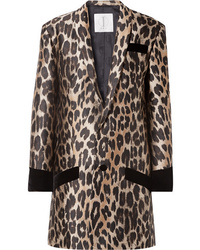 Blazer de leopardo marrón claro de TRE by Natalie Ratabesi