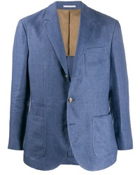 Blazer de lino azul de Brunello Cucinelli