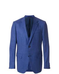 Blazer de Lino Azul de Ermenegildo Zegna