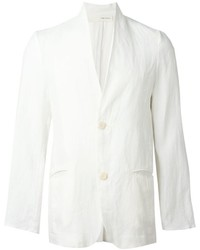 Blazer de lino blanco de Isabel Benenato