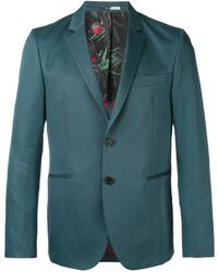 Blazer de Lino en Verde Azulado de Paul Smith