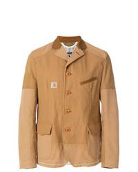 Blazer de lino marrón claro de Junya Watanabe MAN