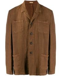 Blazer de lino marrón de Massimo Alba