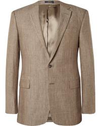 Blazer de lino marrón de Polo Ralph Lauren