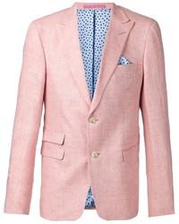 Blazer de lino rosado