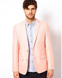 Blazer de lino rosado de Minimum