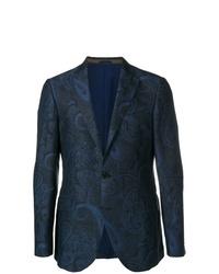 Blazer de paisley azul marino de Etro
