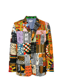 Blazer de patchwork en multicolor de Engineered Garments