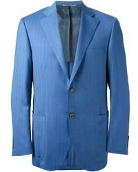 Blazer de Rayas Verticales Azul