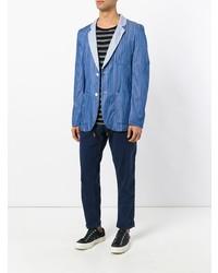 Blazer de rayas verticales azul de Comme Des Garcons SHIRT