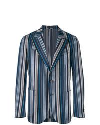 Blazer de rayas verticales azul de Gabriele Pasini