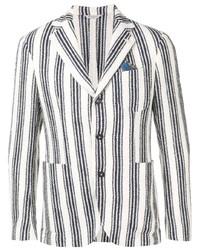 Blazer de rayas verticales en blanco y azul marino de Manuel Ritz