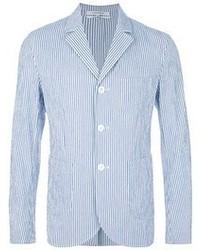 Blazer de rayas verticales en blanco y azul de Carven