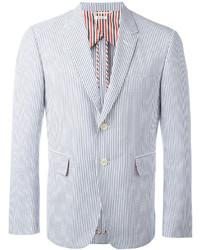 Blazer de rayas verticales en blanco y azul de Thom Browne