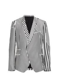 Blazer de rayas verticales en blanco y negro de Haider Ackermann