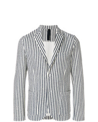 Blazer de rayas verticales en blanco y negro de Harris Wharf London