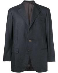 Blazer de rayas verticales en gris oscuro de Burberry Pre-Owned