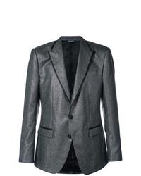 Blazer de rayas verticales en gris oscuro de Dolce & Gabbana