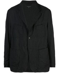 Blazer de rayas verticales en gris oscuro de Engineered Garments