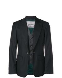 Blazer de rayas verticales en gris oscuro de Vivienne Westwood