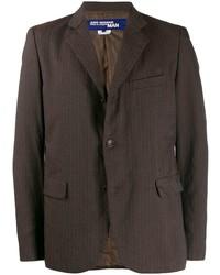 Blazer de rayas verticales en marrón oscuro de Junya Watanabe MAN
