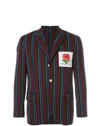 Blazer de rayas verticales en multicolor de Kent & Curwen