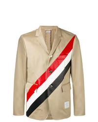 Blazer de rayas verticales marrón claro de Thom Browne