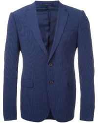 Blazer de seda azul marino de Armani Collezioni