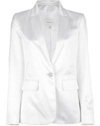 Blazer de seda blanco de Balmain