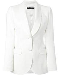Blazer de Seda Blanco de Dolce & Gabbana