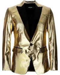 Blazer de seda dorado de DSQUARED2