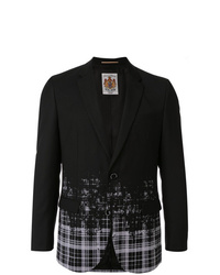 Blazer de seda estampado negro de Education From Youngmachines