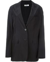 Blazer de seda negro