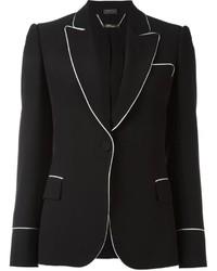 Blazer de seda negro de Alexander McQueen