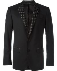 Blazer de Seda Negro de Dolce & Gabbana