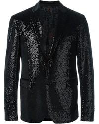 Blazer de seda negro de Etro