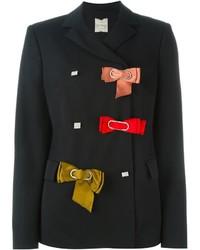 Blazer de seda negro de Lanvin