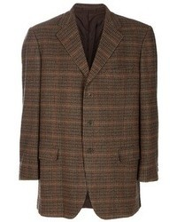 Blazer de tartán en marrón oscuro de Aquascutum London